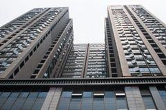 Kinesisk bostads- byggnad Arkivbilder