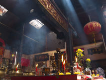 Kinesisk buddismtempel Arkivfoton