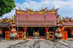 Kinesisk buddistisk tempel i Malang, Indonesien Arkivfoton