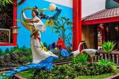 Kinesisk buddistisk tempel i Malang, Indonesien Royaltyfria Foton