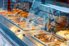 Kinesisk bufférestaurang i den London kineskvarteret arkivfoto