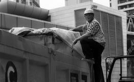 Kinesisk byggnadsarbetare Arkivbild