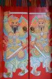 kinesisk dörr Arkivbilder