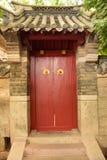 kinesisk dörrstil Arkivbild