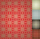 kinesisk damastast seamless wallpaper för bakgrund Arkivbild