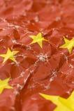 kinesisk detaljflagga Arkivfoto
