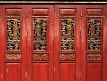 Kinesisk dragspels- dörr Arkivfoto