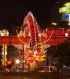 Kinesisk drake 2012 för nytt år Arkivfoto
