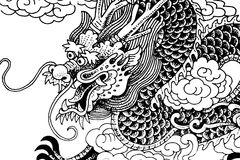 kinesisk drake royaltyfria bilder