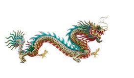 kinesisk drake isolerad white Arkivbilder
