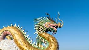 Kinesisk drake med himmel fotografering för bildbyråer