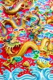 Kinesisk drake på väggen Royaltyfria Foton