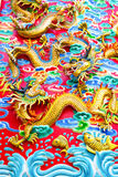 Kinesisk drake på väggen Royaltyfria Bilder