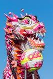 Kinesisk drake under guld- Dragon Parede. Royaltyfri Fotografi