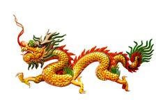 Kinesisk drake på vitbakgrund Arkivfoto