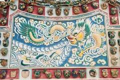 kinesisk drakeskulptur Royaltyfri Fotografi
