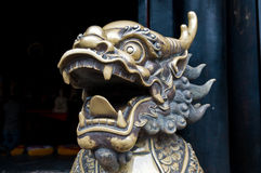 kinesisk drakeskulptur Arkivfoto
