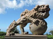 kinesisk drakestaty Arkivbild