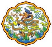 kinesisk drakevektor Arkivfoton