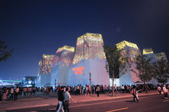 Kinesisk expoShanghai Ryssland paviljong 2010 Royaltyfri Bild