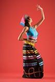kinesisk färgrik dansare royaltyfria bilder