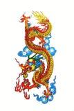 kinesisk färgrik drake Fotografering för Bildbyråer