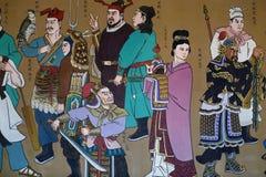 Kinesisk färgväggmålning royaltyfria bilder