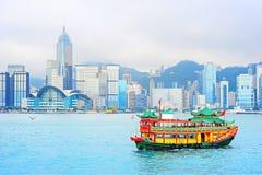 Kinesisk färja Hong Kong arkivfoton