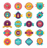 Kinesisk för emblemlägenhet för nytt år uppsättning för bakgrund för design för baner, eps10 Fotografering för Bildbyråer