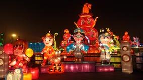 2014 kinesisk för för tempelmässa och lykta för nytt år festival lager videofilmer