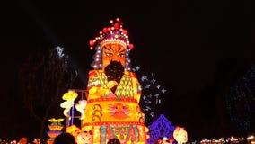2014 kinesisk för för tempelmässa och lykta för nytt år festival stock video