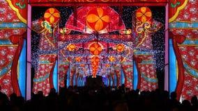 2014 kinesisk för för tempelmässa och lykta för nytt år festival arkivfilmer