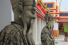 Kinesisk förmyndarestaty i watpho Royaltyfri Fotografi
