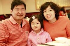 kinesisk familj Arkivbilder