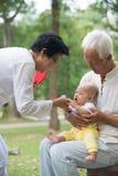 Kinesisk farfar och farmor Arkivbild