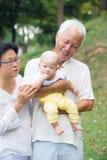 Kinesisk farfar och farmor Arkivfoto
