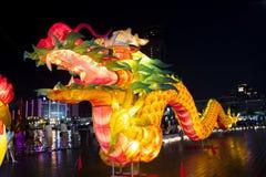 Kinesisk festival, kinesiskt nytt år, lyktafestival, Zhongyuan Purdue, ursnygg färgrik lyktafestival royaltyfria foton