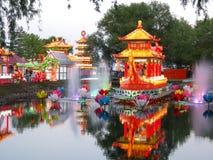 kinesisk festivallykta Arkivbild