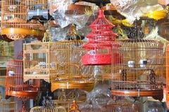 Kinesisk fågelbur Arkivbild