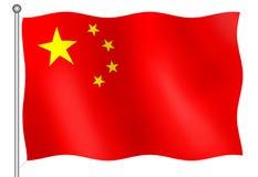 kinesisk flagga Arkivbild