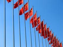 kinesisk flagga Royaltyfria Bilder