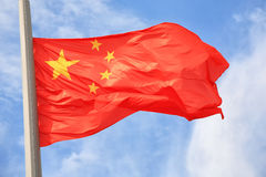 kinesisk flagga Royaltyfri Bild