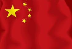 kinesisk flagga Royaltyfri Fotografi
