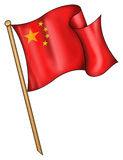kinesisk flaggaillustration Royaltyfria Foton