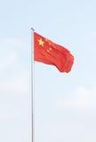 kinesisk flagganational Arkivbild