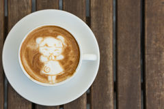 Kinesisk flicka sena Art Coffee för nytt år Royaltyfria Bilder