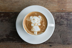 Kinesisk flicka sena Art Coffee för nytt år Fotografering för Bildbyråer