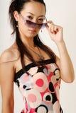 kinesisk flickalamor Fotografering för Bildbyråer