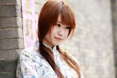 kinesisk flickastående Royaltyfria Foton
