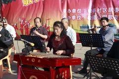 Kinesisk folkmusikhelhet Arkivfoto